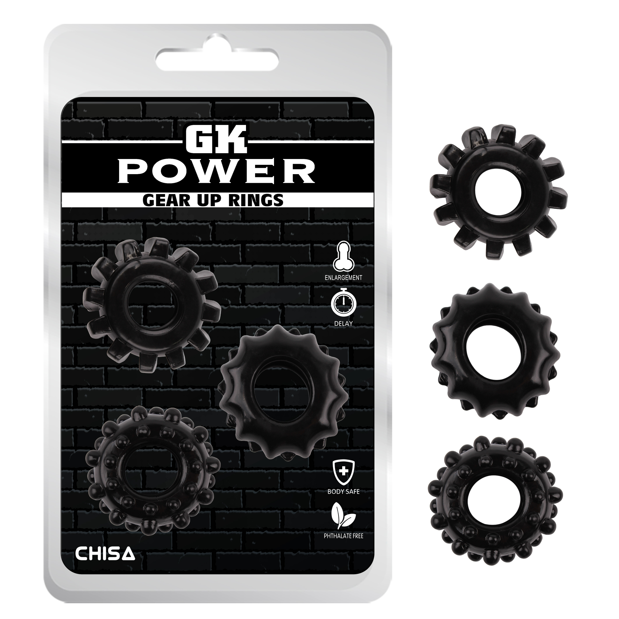 Gear Up Rings-Black